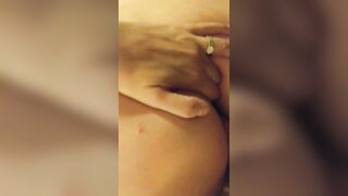 Two fingers in my ass while he slides his big cock in me - Couples