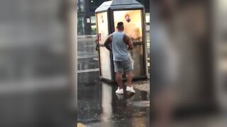 caught fucking in a phone-box