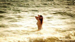 Lola Naymark naked on the beach