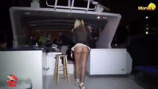 Flashing And Flaunting: Jenny Scordamaglia bit windy on the boat