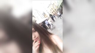 Stella Cox Selfie In Budapest