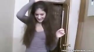 Shy College Girl going Wild with her Roommate Friend - With Friends