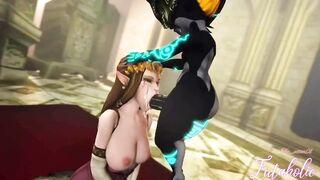 Futanari Midna facefucking Zelda