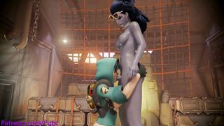 Tracer and Widow, they're still in the spawn room!?