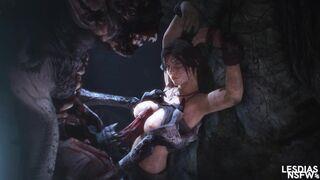 Lara Croft vs Foglet
