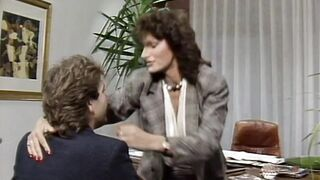 80's Euro Pornstar Legend Teresa Orlowski some office action