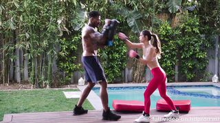 Blacked - Abbie Maley Playing Harder - Giggly