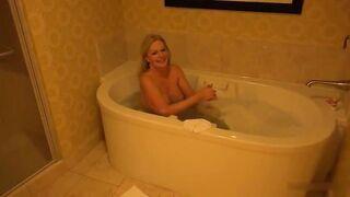 GILF taking a bath