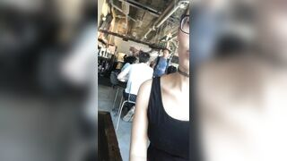 Showing you my pussy in a restaurant....want to play with it under the table? ??