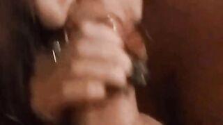 Wife swallowing like the good girl she is! - Girls Finishing The Job