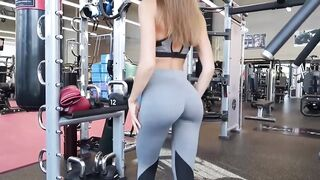 Distracting The Men At Her Gym