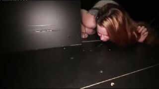 Dirty girl licks a dirty load off a dirty floor