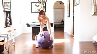 Sabina Keeping In Shape With Her New Yoga Ball