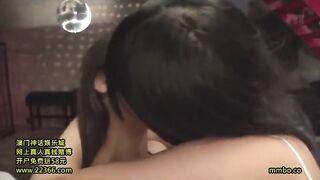 Hibiki and Aya Miyazaki share a kiss